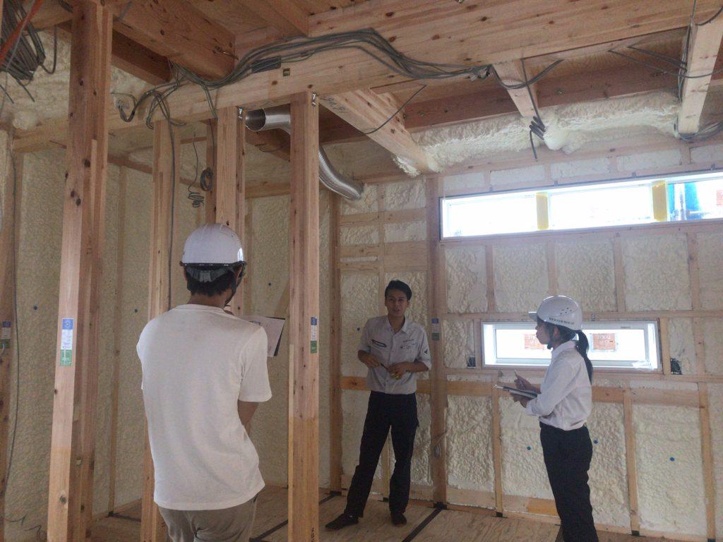 インターンシップ木工事現場訪問写真